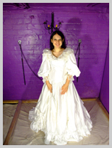 Just how much treacle can you get in a wedding dress? featuring Felicity, the Serving Wench
