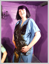 Lady Samantha gunge-tests a finishing school sports uniform featuring Lady Full-Wellington, of Marsh House