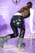 view details of set gm-2f137, Chastity in PVC has custard thrown all over herself