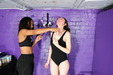 view details of set gm-2f176, Friday and Chastity compare tight outfits for filling with mess!
