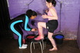 view details of set gm-2g035, Friday and Felicity fill each other's spandex outfits with goo!